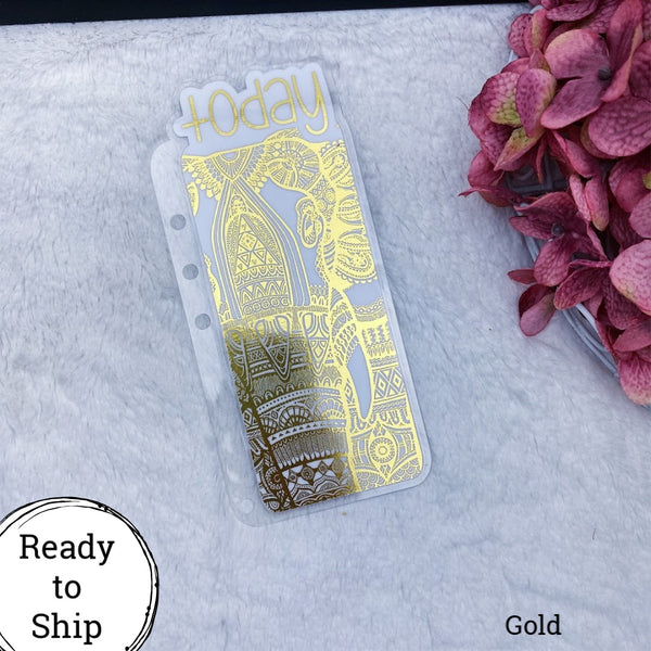 A5 Rings Gold Elephant Today Tab - Ready to Ship