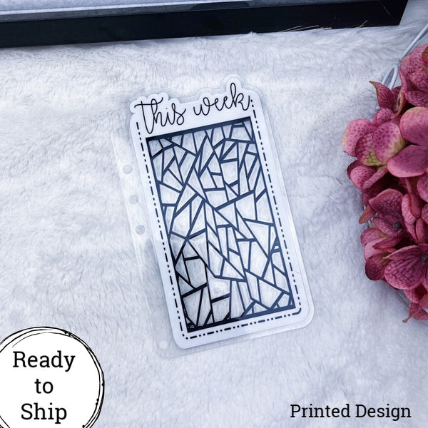 A5 Rings This Week Geometric Dashed Die Cut Planner Tab - Ready to Ship