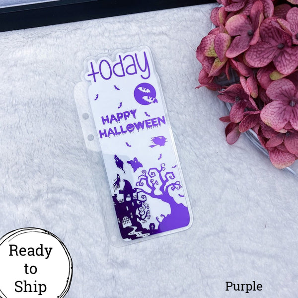 A5 Rings Purple Happy Halloween Today Tab - Ready to Ship
