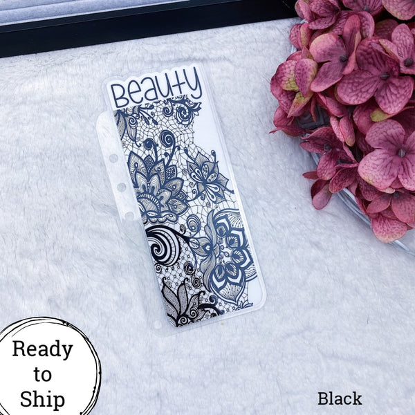 A5 Rings Black Lace Beauty Tab - Ready to Ship