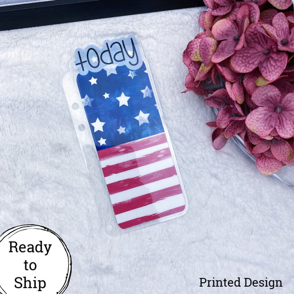 A5 Rings Printed American Flag Today Tab - Ready to Ship