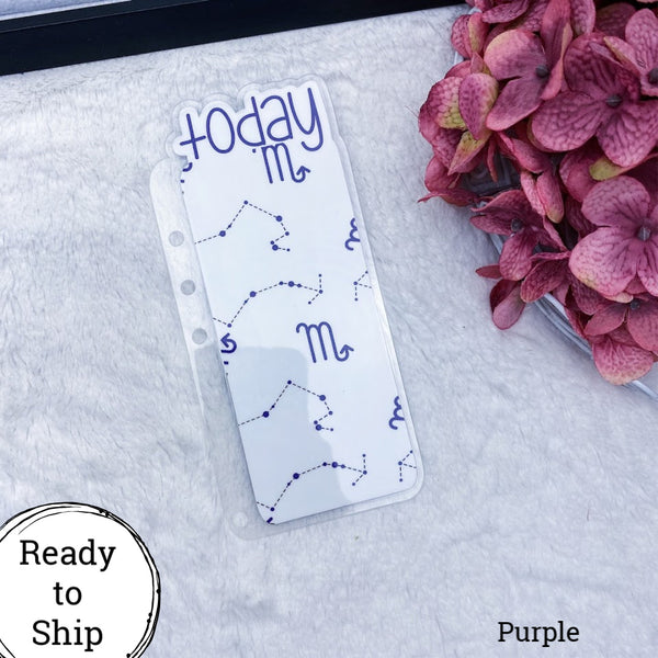 A5 Rings Purple Scorpio Zodiac Today Tab - Ready to Ship
