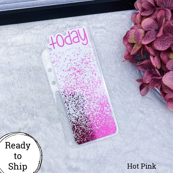 A5 Rings Hot Pink Splatter Today Tab - Ready to Ship