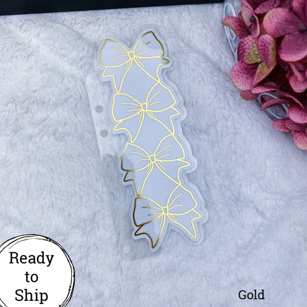 A5 Rings Gold Stacked Bow Planner Tab - Ready to Ship