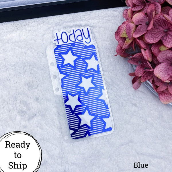 A5 Rings Blue Stars & Stripes Today Tab - Ready to Ship