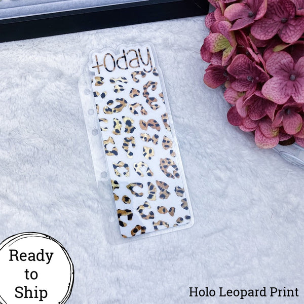 A6 Rings Holo Leopard Print Foiled Leopard Print Today Tab - Ready to Ship