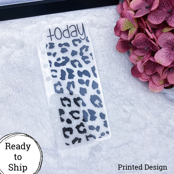A6 Rings Vellum Leopard Print Today Tab - Ready to Ship