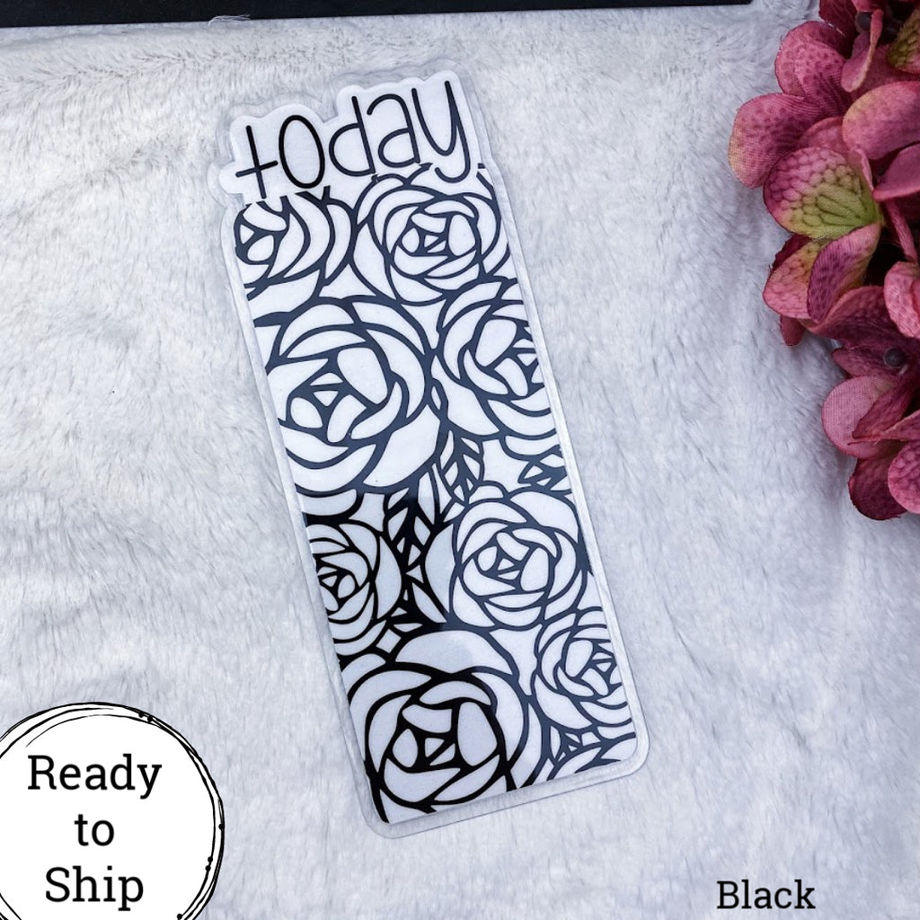 A6 TN Black Roses Today Tab - Ready to Ship