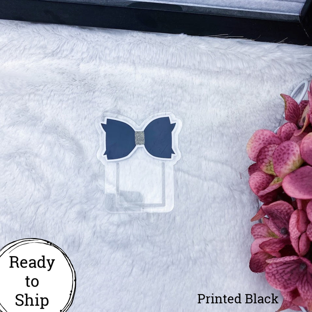 Black Bow Planner Clip - Ready to Ship