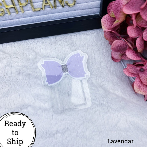 Lavender Bow Planner Clip - Ready to Ship