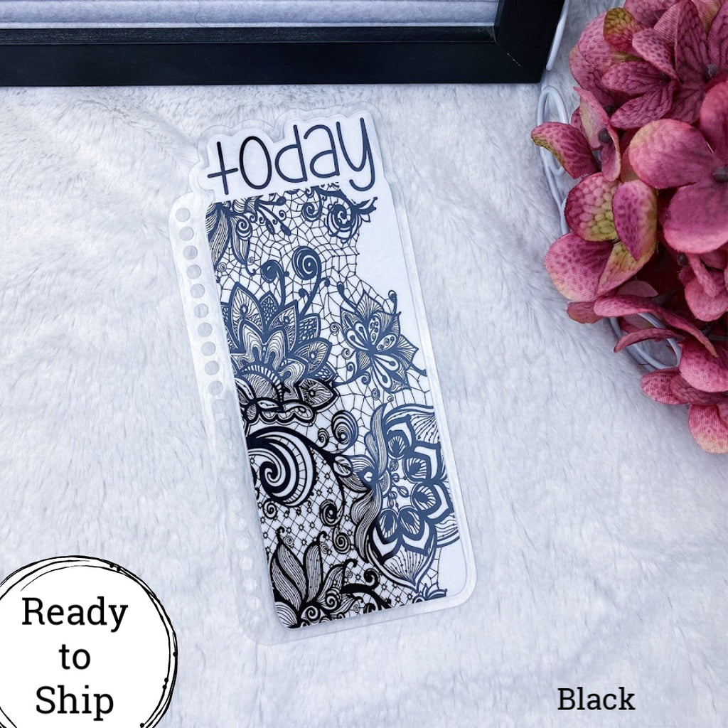 Erin Condren Black Lace Today Tab - Ready to Ship