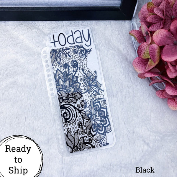 Spiral Bound Black Lace Today Tab - Ready to Ship