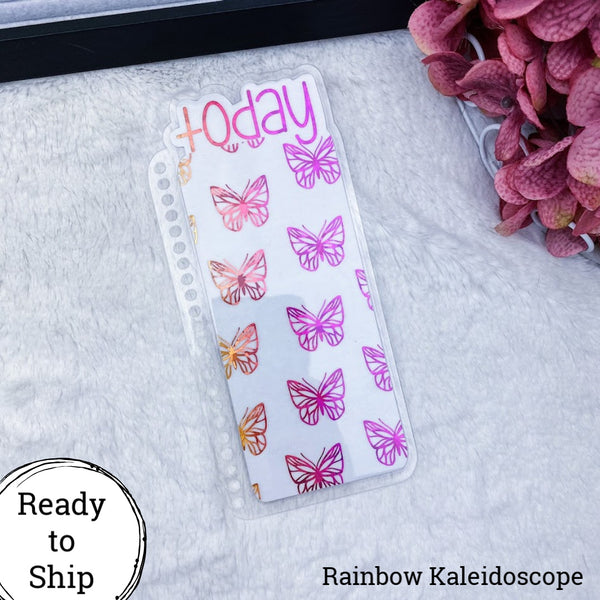 Erin Condren Orange/Pink Kaleidoscope Butterflies Today Tab - Ready to Ship
