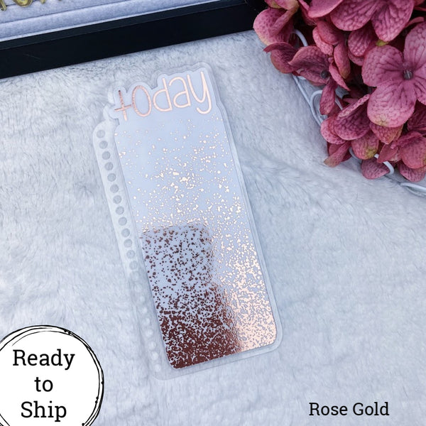 Erin Condren Rose Gold Splatter Today Tab - Ready to Ship