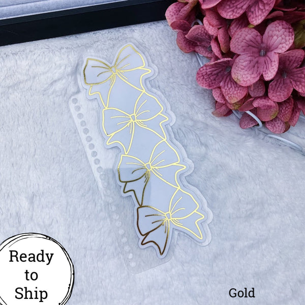 Spiral Bound Gold Stacked Bow Planner Tab - Ready to Ship