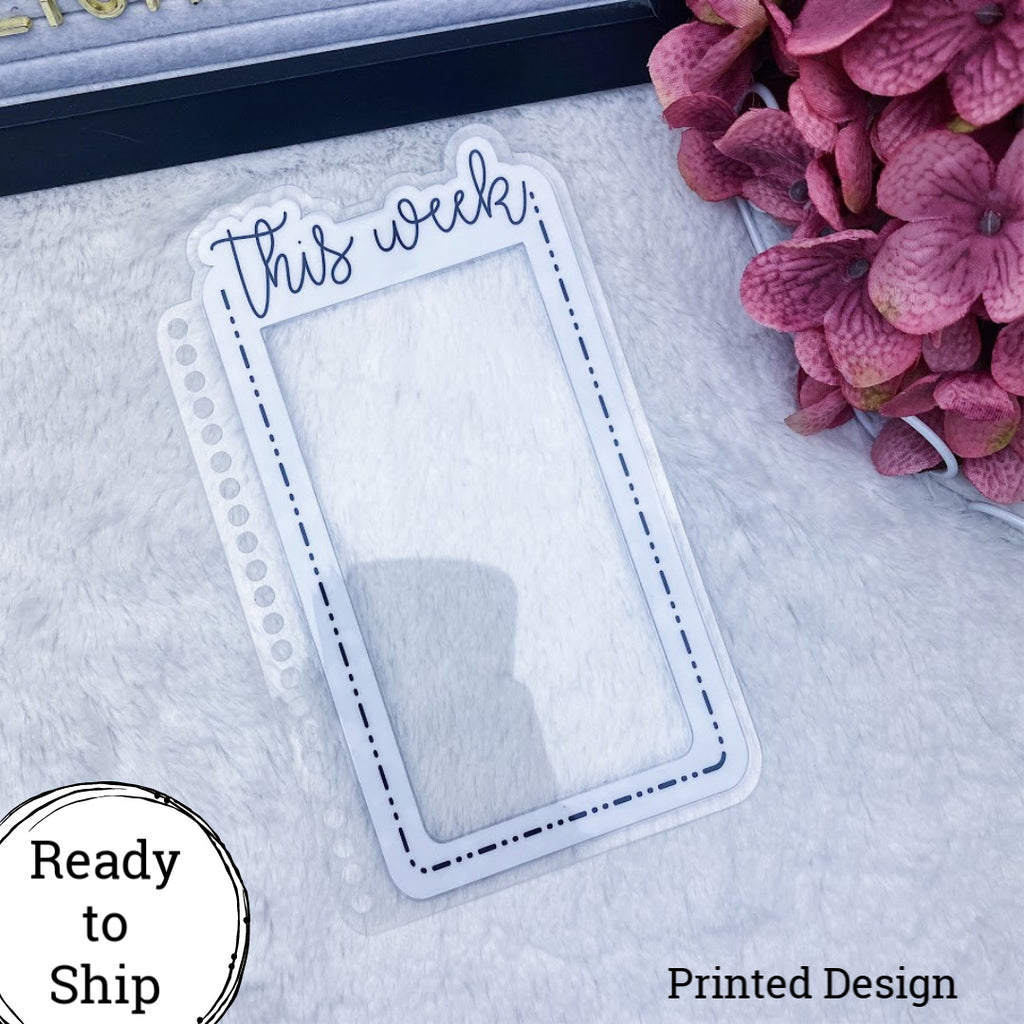 Erin Condren This Week Dashed Die Cut Planner Tabs - Ready to Ship