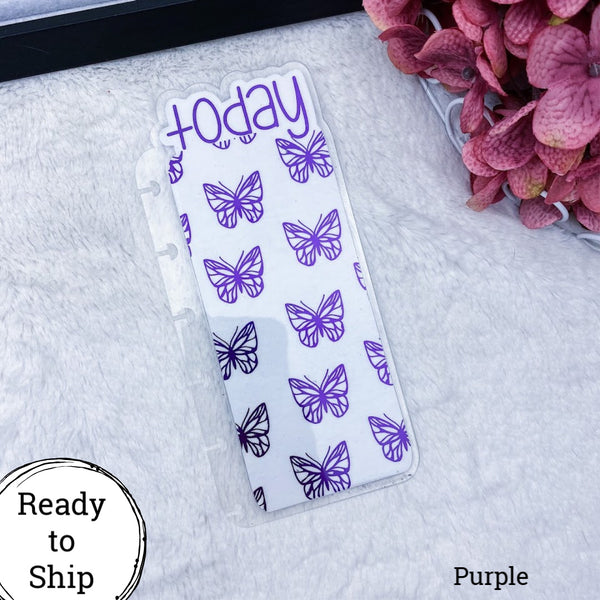 Happy Planner Purple Butterflies Today Tab - Ready to Ship