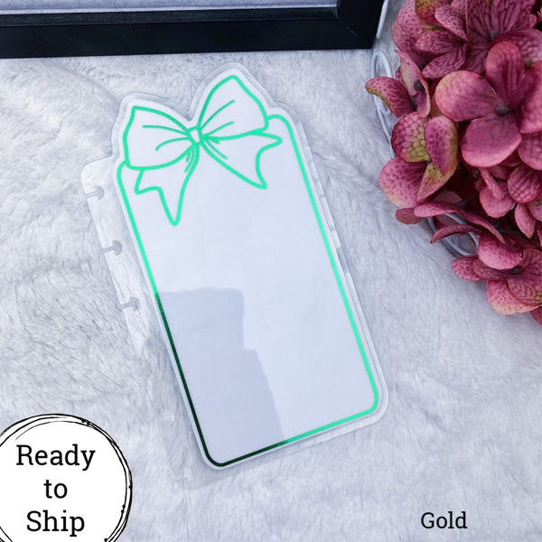 Happy Planner Green Center Bow Tab - Ready to Ship