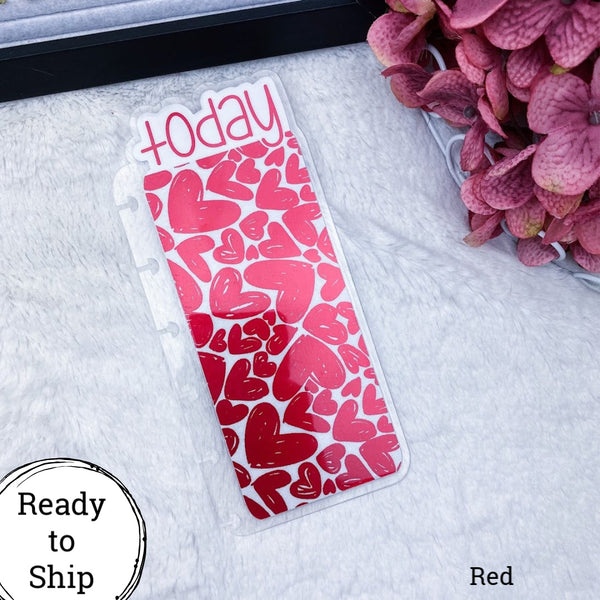 Happy Planner Red Hearts Today Tab - Ready to Ship