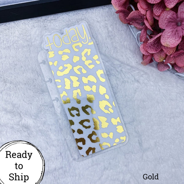 Happy Planner Gold Leopard Print Today Tab - Ready to Ship