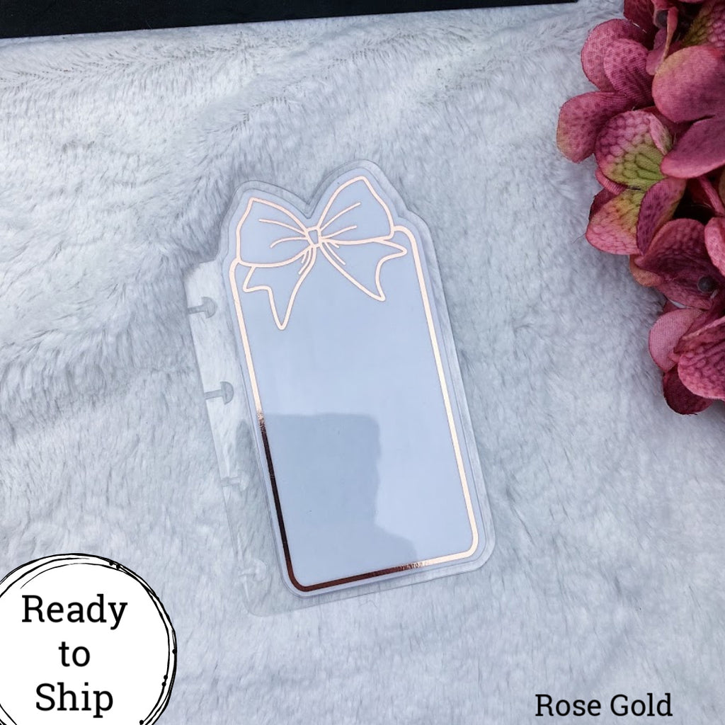 Happy Planner Micro Rose Gold Center Bow Tab - Ready to Ship