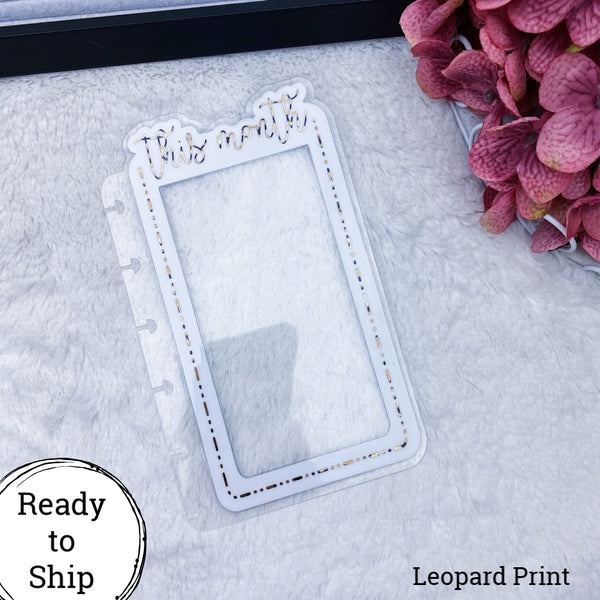Happy Planner Dashed Lined Leopard Print This Month Tab - Ready to Ship