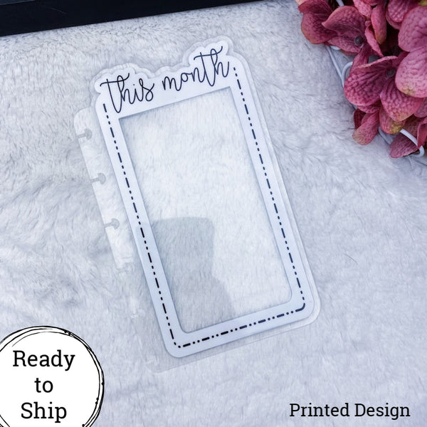 Happy Planner Dashed Lined This Month Tab - Ready to Ship