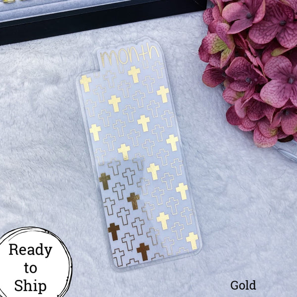 Hobonichi Weeks Gold Crosses Month - Ready to Ship