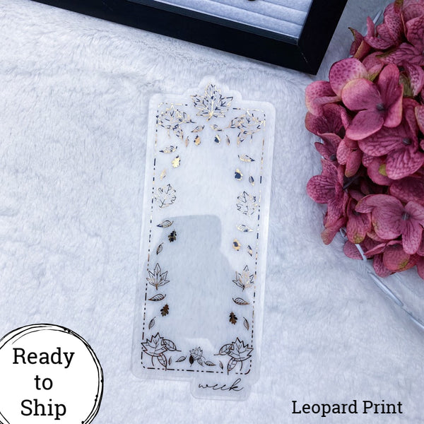 Weeks Leopard Print Fall Leaves Dashboard - Ready to Ship