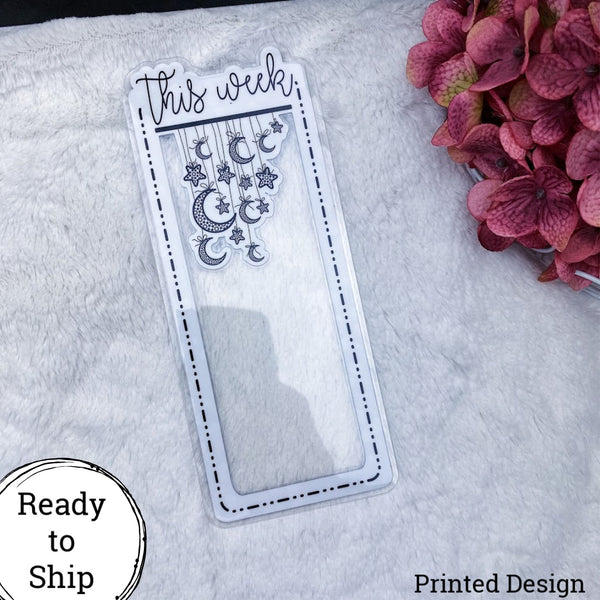 Weeks This Week Star Dangle Dashed Lined Tab - Ready to Ship
