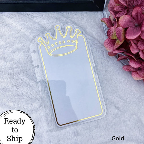 Happy Planner Gold Center Crown Tab - Ready to Ship