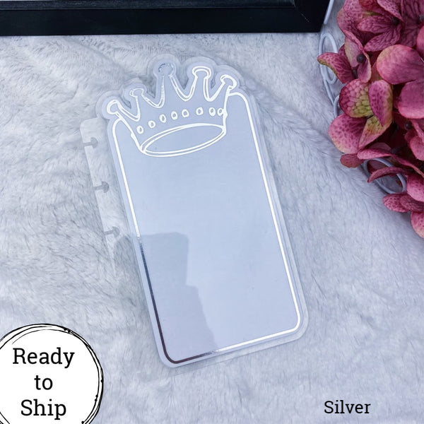 Happy Planner Silver Center Crown Tab - Ready to Ship