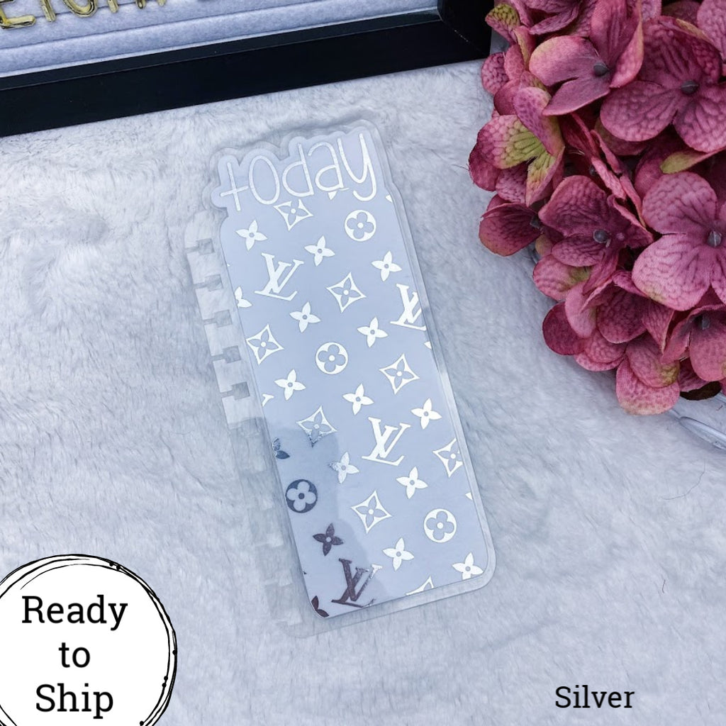 Twin Wire Bound Silver Vuitton Today Tab - Ready to Ship