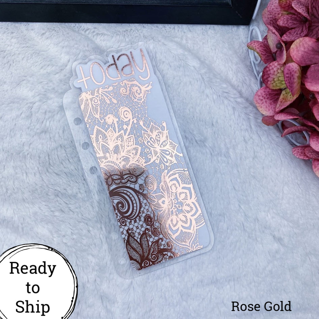Personal Rings Rose Gold Lace Today Tab - Ready to Ship