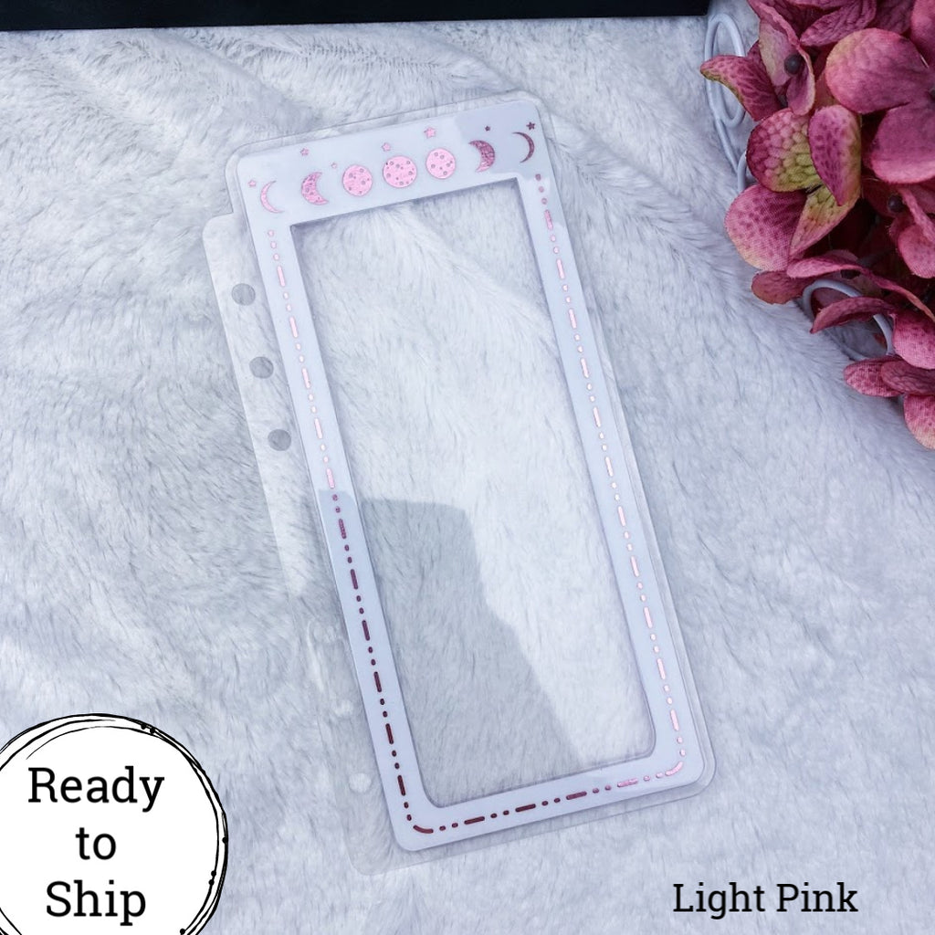 Personal Rings Light Pink Moon Phase Planner Tabs - Ready to Ship