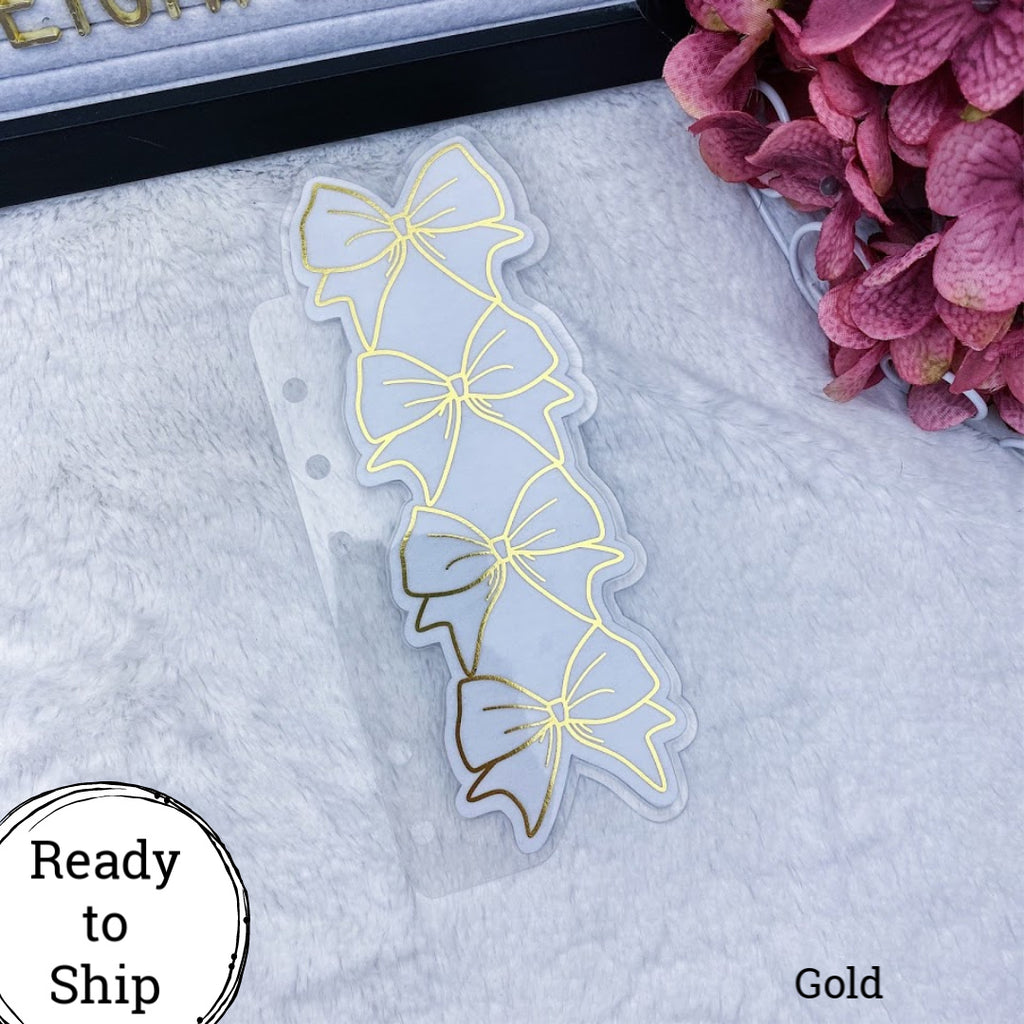 Personal Rings Gold Stacked Bow Tab - Ready to Ship