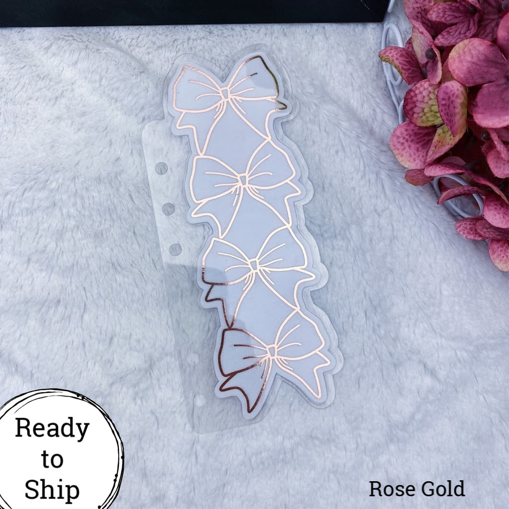 Personal Rings Rose Gold Stacked Bow Tab - Ready to Ship