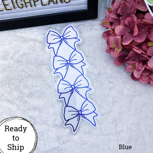 Personal TN Blue Stacked Bow Planner Tab - Ready to Ship