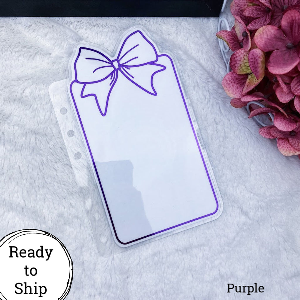 Personal Wide Purple Center Bow Tab - Ready to Ship