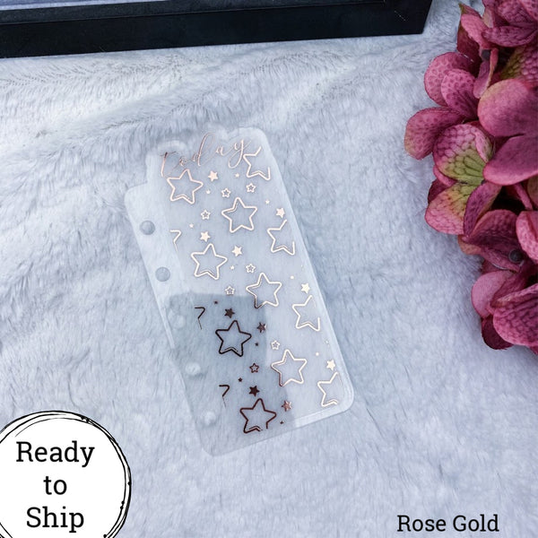 Pocket Rings Rose Gold Star Pattern Today Tab - Ready to Ship