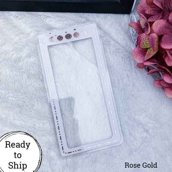 Pocket TN Rose Gold Moon Phase Planner Tab - Ready to Ship