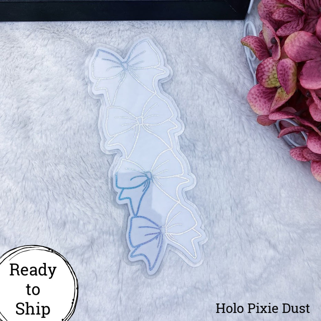 Pocket TN Holo Pixie Dust Stacked Bow Planner Tab