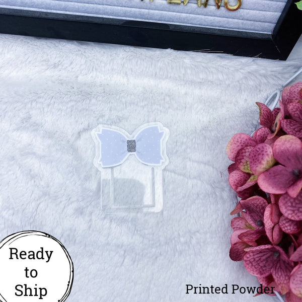 Powder Bow Planner Clip - Ready to Ship
