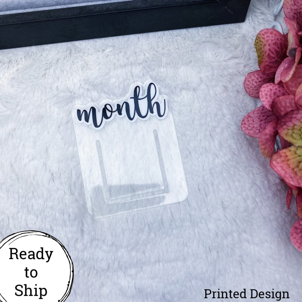 Printed Month Planner Clip - Ready to Ship