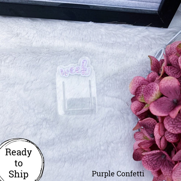 Purple Confetti Foiled Week Planner Clip - Ready to Ship