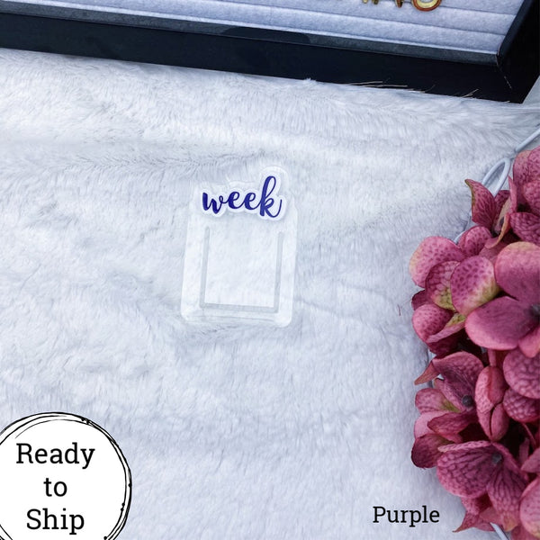 Purple Foiled Week Planner Clip - Ready to Ship
