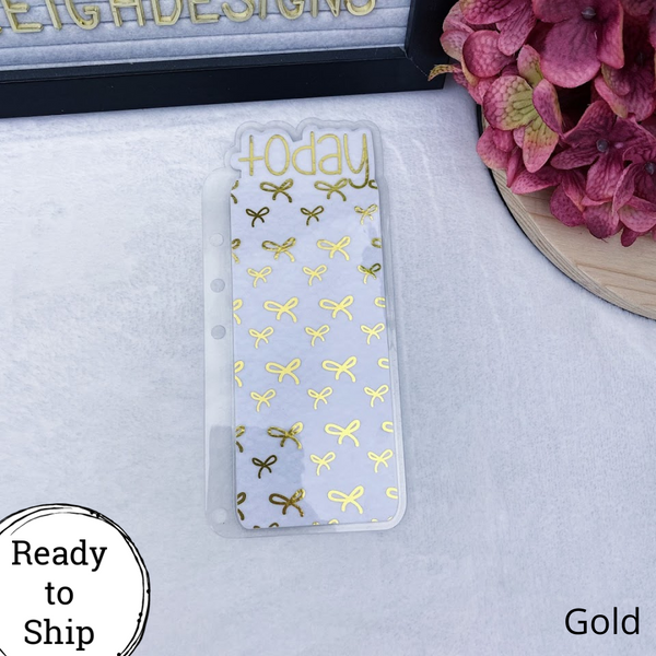 A5 Rings Gold Bows Today Tab - Ready to Ship