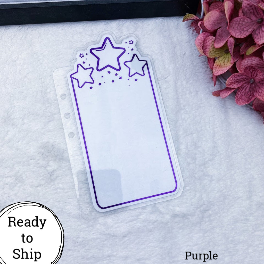 A5 Rings Purple Center Stars Planner Tab - Ready to Ship