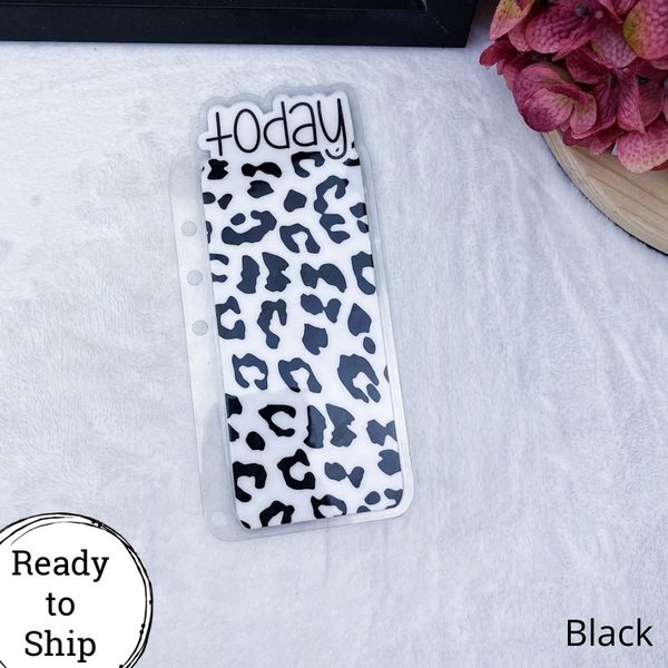 A5 Rings Black Leopard Print Today Tab - Ready to Ship