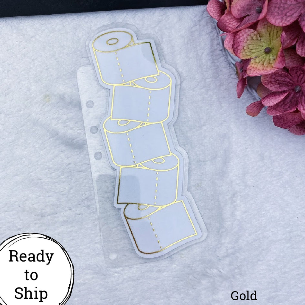 A5 Rings Gold Stacked TP Planner Tab - Ready to Ship
